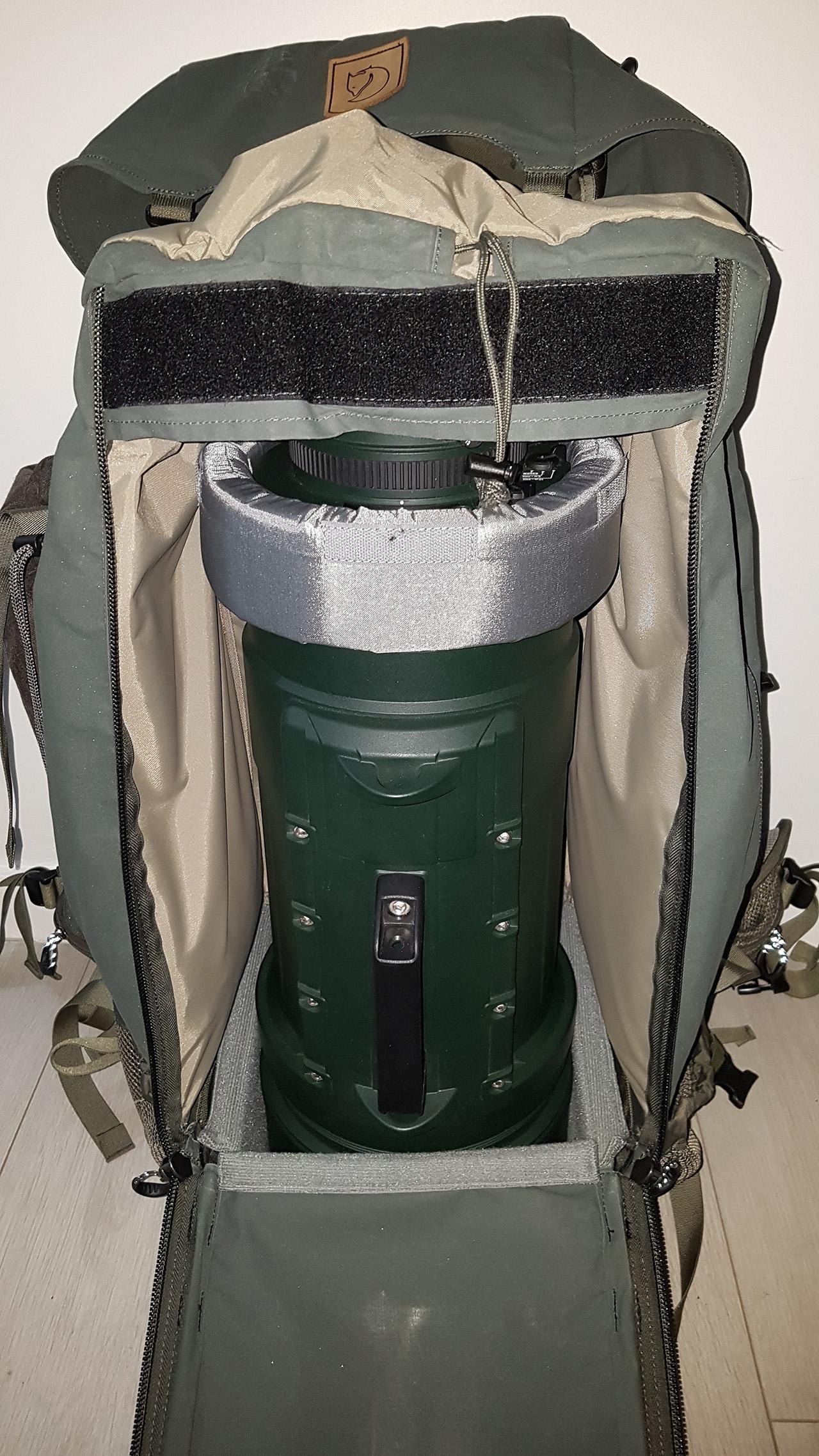 Solution maison pour transporter le 200-500mm F2.8